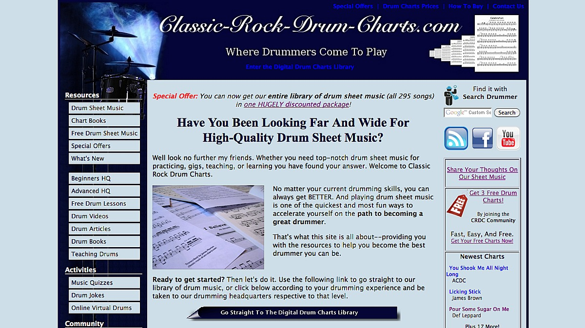 Classic Rock Drum Charts