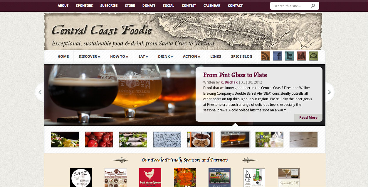 Central Coast Foodie-Web Design-After
