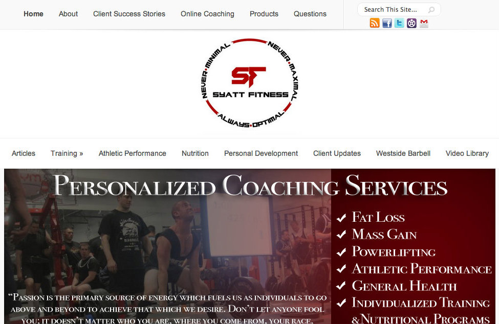 Syatt Fitness Design-Slider